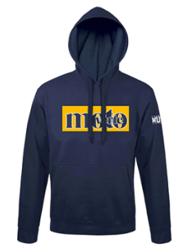 SWEAT A CAPUCHE BLEU M